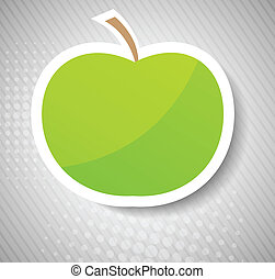 Concept with apple