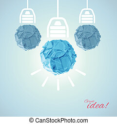 Concept with bulbs
