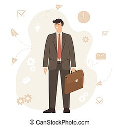 Concept with Businessman
