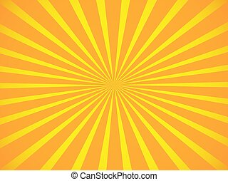 Concept with orange and yellow circular rays