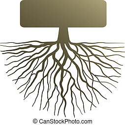 Concept with tree root - Conceptual illustration with...