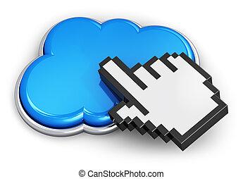 concept, wolk, gegevensverwerking