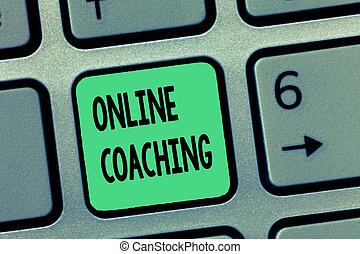 concept, woord, helpen, zakelijk, tekst, online, schrijvende , trainer, leren, internet, coaching.