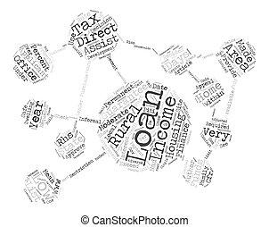 concept, woord, krijgen, tekst, lening, regering, hoe, laag, achtergrond, inkomen, thuis, matig, of, wolk