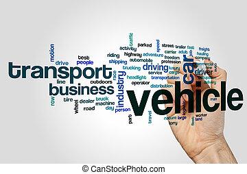 concept, woord, wolk, voertuig