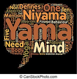 concept, yoga, texte, wordcloud, fond, yama, niyama
