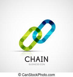 concept, zakelijk, bedrijf, verbinding, logo, pictogram