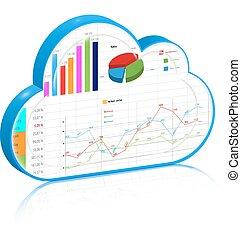 concept, zakelijk, gegevensverwerking, proces, management, wolk