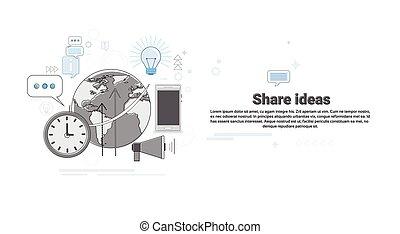 concept, zakelijk, globaal, aandeel, idee, samenwerking, spandoek