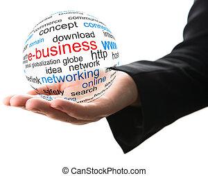 concept, zakelijk, internet
