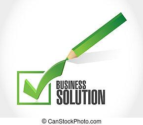 concept, zakelijk, oplossing, meldingsbord, mark, controleren