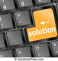 concept, zakelijk, steun, computer, key., toetsenbord