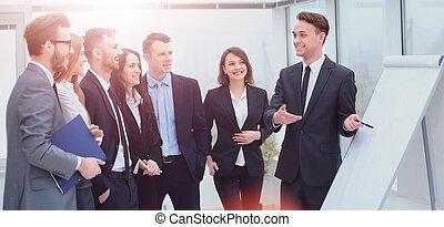 concept, zakelijk, werkende mensen , communicatie, discussie, werkkring vergadering
