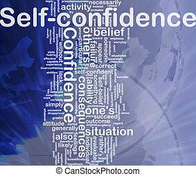 concept, zelfvertrouwen, achtergrond