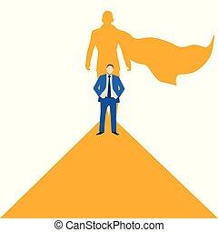 concept, zijn, stalletjes, zakelijk, goal., -, vector, richtingwijzer, bewegingen, leider, illustration.