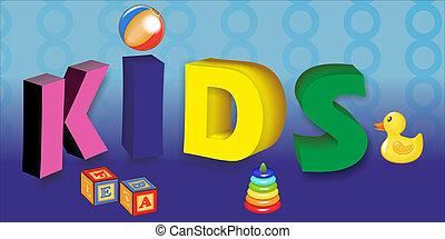 concept, zone, gosses, conception, jouets, enfants