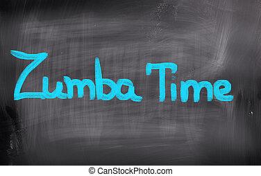 concept, zumba, temps