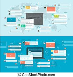 concepten, netwerk, sociaal