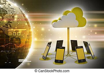 concepten, wolk, artikelen & hulpmiddelen, gegevensverwerking