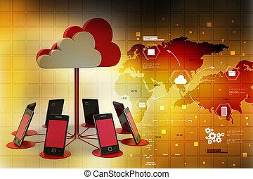 concepten, wolk, gegevensverwerking, artikelen & hulpmiddelen