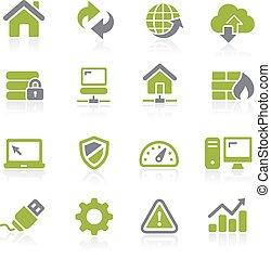 concepteur web, icons., natura