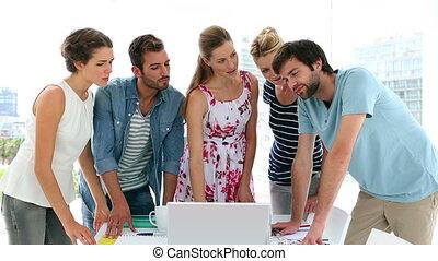 concepteurs, réunion, avoir, équipe