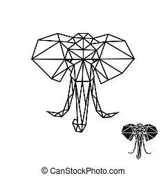 conception, éléphant, logo