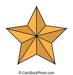 conception, étoile, isolé, noël saison