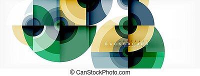 conception abstraite, cercle, fond