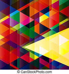 conception abstraite, coloré, fond