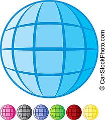 conception abstraite, globe