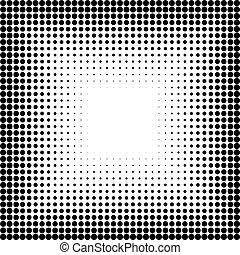 conception abstraite, halftone