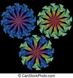 conception abstraite, spirales, créatif