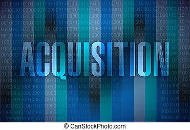 conception, acquisition, illustration, signe