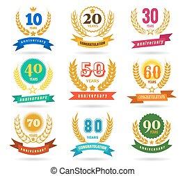 conception, anniversaire, collection, nombres