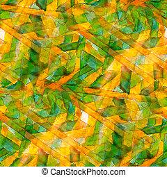 conception, aquarelle, seamless, fond, jaune, vert, texture, résumé, peinture, modèle, couleur art, eau, brosse