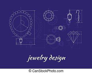 conception, bannière, bijouterie