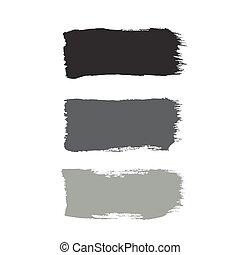 conception, bannières, ensemble, noir, ton