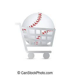 conception, baseball., chariot, illustration