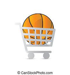 conception, basket-ball, chariot, illustration