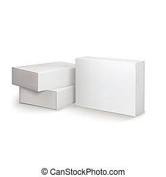 conception, boîtes, -, gabarit, paquet