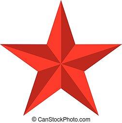 conception, brillant, toile, arrière-plan., étoile, style., icône, couleurs, blanc, ton, signe., lustré, site, ui., rouges, symbole., logo, app, plat