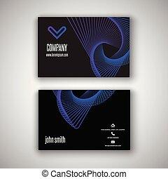conception, carte affaires, retro