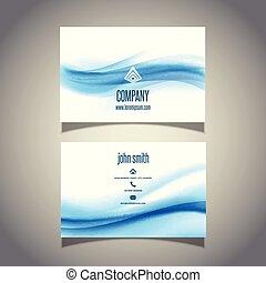 conception, carte affaires, vagues