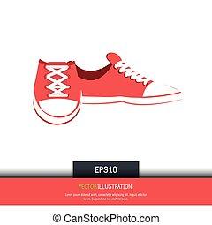 conception, chaussures occasionnelles