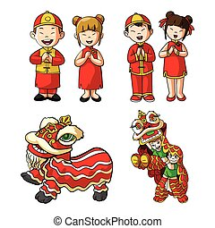 conception, chinois, illustration