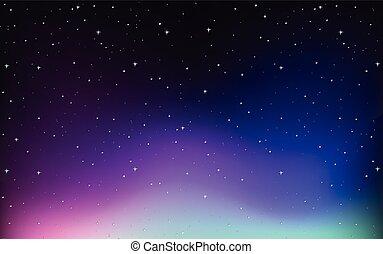 conception, ciel, étoiles, fond