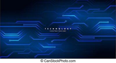 conception, circuit, numérique, diagramme, fond, technologie, lignes