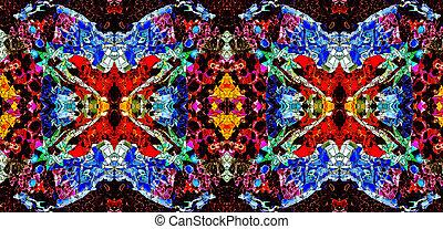 conception, coloré, mosaïque