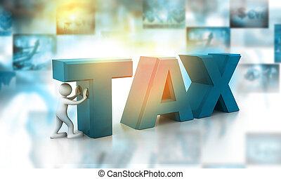 conception, concept, impôt, 3d
